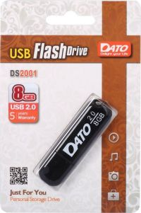 Флешка Dato 8Gb DS2001 DS2001-08G USB2.0 черный