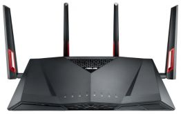 Wi-Fi роутер Asus RT-AC88U 10/100/1000BASE-TX черный