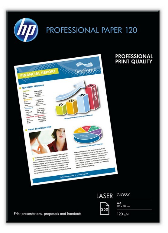 Бумага для цветных лазерных принтеров hp глянцевая