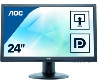 "Монитор AOC 23.6"" E2475PWJ(/01) черный TN+film LED 2ms 16:9 DVI HDMI M/M матовая HAS Pivot 250cd 1920x1080 D-Sub FHD 5.2кг"