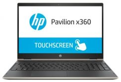 "Трансформер HP Pavilion x360 15-cr0005ur Core i5 8250U/ 8Gb/ 1Tb/ SSD128Gb/ AMD Radeon 530 2Gb/ 15.6""/ IPS/ Touch/ FHD (1920x1080)/ Windows 10 64/ gold/ WiFi/ BT/ Cam"