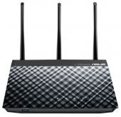 Wi-Fi роутер Asus RT-N18U 10/100/1000BASE-TX черный