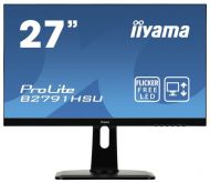 "Монитор Iiyama 27"" ProLite B2791HSU-B1 черный TN LED 1ms 16:9 HDMI M/M матовая HAS Pivot 300cd 170гр/160гр 1920x1080 D-Sub DisplayPort FHD USB 6.9кг"