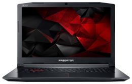 "Ноутбук Acer Predator Helios 300 PH317-52-54TM 17.3""(1920x1080 (матовый))/ Intel Core i5 8300H(2.3Ghz)/ 16384Mb/ 1000+128SSDGb/ noDVD/ Ext:nVidia GeForce GTX1050Ti(4096Mb)/ Cam/ BT/ WiFi/ war 1y/ 3kg/ black/ Linux"