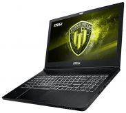 "Ноутбук MSI WS63 8SK-053RU 15.6""(1920x1080 (матовый))/ Intel Core i7 8750H(2.2Ghz)/ 32768Mb/ 1000+128SSDGb/ noDVD/ Ext:nVidia Quadro P3200(6144Mb)/ Cam/ BT/ WiFi/ 65WHr/ war 3y/ 1.8kg/ black/ W10Pro"