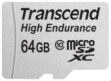 Карта памяти Transcend 64GB microSDHC Card UHS-I Class 10 High Endurance R/W 21/20 MB/s