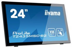 "Монитор Iiyama 24"" ProLite T2435MSC-B2 черный VA LED 8ms 16:9 DVI HDMI M/M Cam матовая 250cd 178гр/178гр 1920x1080 D-Sub DisplayPort FHD USB Touch 5.8кг"
