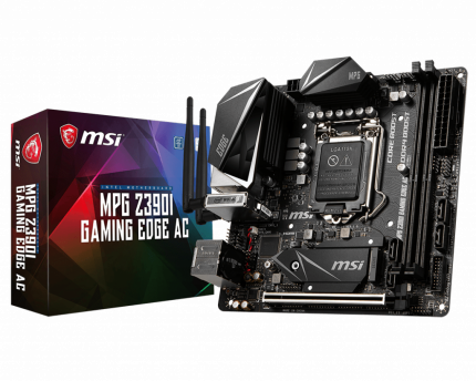Материнская плата MSI MPG Z390I GAMING EDGE AC, Intel Z390, s1151v2, mini-ITX