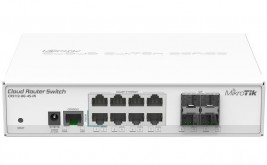 Коммутатор MikroTik Cloud Router Switch CRS112-8G-4S-IN, 8x10Base-T/ 100Base-TX/ 1000Base-T, 4xSFP, 1xConsole