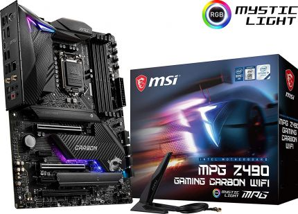 Материнская плата MSI MPG Z490 GAMING CARBON WIFI, Intel Z490, s1200, ATX