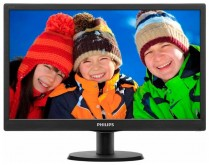 "Монитор Philips 18.5"" 193V5LSB2 (10/62) Glossy-Black TN LED 5ms 16:9 10M:1 200cd"