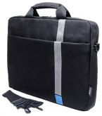 "Сумка PC PET PCP-1001BL 15.6"" Polyester HQ Classic Toplader Front compartment Blue Patch Черный"