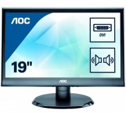 "Монитор AOC 18.5"" E975SWDA(/01) черный TN+film LED 5ms 16:9 DVI M/M матовая 250cd 1366x768 D-Sub HD READY"