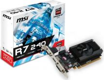 Видеокарта MSI PCI-E R7 240 1GD3 64b LP, AMD Radeon R7 240, 1Gb DDR3
