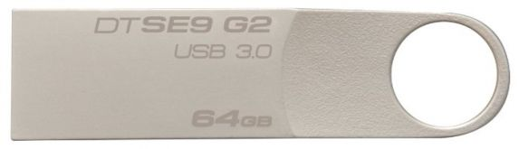 Флешка Kingston 64Gb DataTraveler SE9 G2 DTSE9G2/64GB USB3.0 серебристый