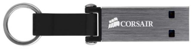 Флешка Corsair 64Gb Voyager Mini CMFMINI3-64GB USB3.0 черный/серый