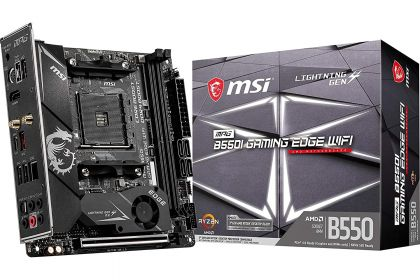 Материнская плата MSI MPG B550I GAMING EDGE WIFI, AMD B550, sAM4, mini-ITX