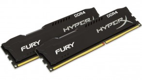 Модуль памяти Kingston 8GB 2666MHz DDR4 DIMM (Kit of 2) HyperX FURY Black (HX426C15FBK2/8)