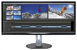 "Монитор Philips 34"" BDM3470UP (00/01) черный IPS LED 21:9 DVI HDMI M/M матовая HAS Pivot 1000:1 320cd 178гр/178гр 3440x1440 D-Sub DisplayPort USB 9.46кг"