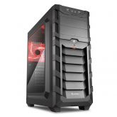 Корпус Sharkoon SKILLER SGC1 Window Red черный, без БП, ATX