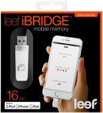 Флешка LEEF iBridge, 16 Гб, OTG, USB 2.0 & Apple Lightning, белый