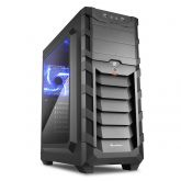 Корпус Sharkoon SKILLER SGC1 Window Blue черный, без БП, ATX