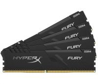 Модуль памяти Kingston 64Gb (4x16Gb) 2666MHz DDR4 HyperX FURY Black (HX426C16FB3K4/64)