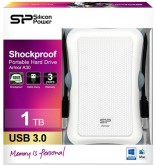 "Жесткий диск Silicon Power USB 2.0 1Tb SP010TBPHDA30S3W A30 2.5"" белый Armor"