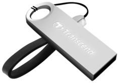 Флешка Transcend 16GB JetFlash 520, Silver Plating