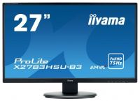 "Монитор Iiyama 27"" ProLite X2783HSU-B3 черный VA LED 4ms 16:9 HDMI M/M матовая 3000:1 300cd 178гр/178гр 1920x1080 D-Sub DisplayPort FHD USB 4.4кг"