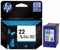 Картридж HP 22 Tri-colour для DJ F370/ F375/ F380/ 3920/ 3940/ D1360/ D1460/ D1470/ D1560/ D2330/ D2360/ D2430/ D2460/ F2180/ F2187/ F2280/ F2290/ F4140/ F4172/ F4180/ F4190