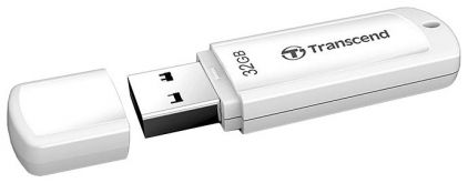 Флешка Transcend 32Gb Jetflash 370 TS32GJF370 USB2.0 белый
