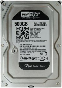 Жесткий диск WD SATA-III 500Gb WD5003AZEX Black (7200rpm) 64Mb 3.5""