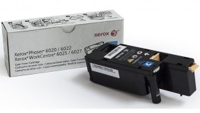 Тонер-картридж Xerox 106R02760 голубой для Phaser 6020/6022, WorkCentre 6025/6027
