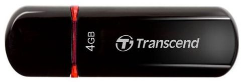Флешка Transcend 4GB JetFlash 600 (Black/Red) High Speed