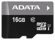 Карта памяти A-DATA 16GB microSDHC class10 UI with SD adapter