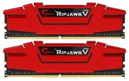 Модуль памяти DDR4 G.SKILL RIPJAWS V 8GB (2x4GB kit) 2400MHz CL15 PC4-19200 1.2V (F4-2400C15D-8GVR)