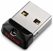 Флешка SanDisk Cruzer Fit 16Gb USB 2.0 чёрный (SDCZ33-016G-G35)