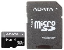 Карта памяти A-DATA 64GB microSDXC UHS-I class10 with SD adapter